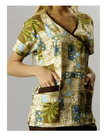 Fashion Fit Printed Y-neck Scrub Uniform