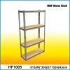135cm Z-beam Rivet locked Metal Baked enamel finished Steel MDF Garage 4 Shelf Unit