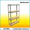 135cm Z-beam Rivet locked Metal Baked enamel finished Steel MDF Garage 4 Shelf Unit