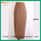 2012 Pictures of ladies fashion brown long skirt AD94#