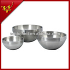 Stainless steel Double Wall Mixing Bowl Set