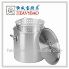 High Quality Stainless Steel stock pot with basket