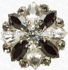 embossed rhinestone brooch