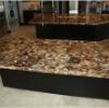 Semi precious stone gemstone of petrified wood tile table top