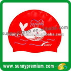 Fish Logo Silicone Swimming Cap