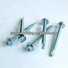 Hex head self drilling screws /tapping screw/ HEX head +PVC washer/self drilling zinc plated