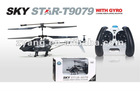 4 Channel Avatar alloy rc heli with gyro