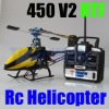 Metal & Carbon Fiber Trex 450 V2 Rc Helicopter 2.4G 6CH RTF 450 helicopter