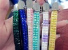 candy color crystal rhinestone bling lanyard for phone, MP3 etc