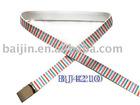 beautiful striped webbing belt for girls