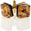 24K Murano Men's Glass Cuff Links