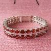 Silver925 Garnet Bracelet Charms(l0406101ags)