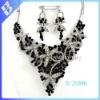 filigree heart pendant necklace & fish hook earring set