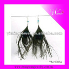 New design fashion feather earrings