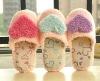 heart soft plush slipper