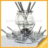 23pcs transparent Glass Fondue Set