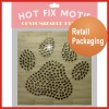 Retail packaging hot fix transfer rhinestones