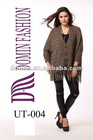 Hot selling polyacrylonitrile fiber with v collar longsleeve knitted sweater Lady's tops with long cardigan , Plus Size
