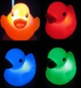 color changing rubber flashing duck, led flash bath duck toy(2middle size)