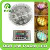 12x1W RGB LED PAR38 spotlight with IR remote panel