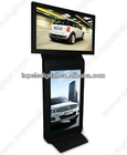42 inch double screen standing touch screen totem display for bank,lobby,shopping center