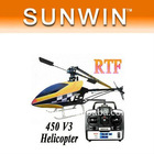NEW!!! Christmas gift 450V3 Sport RTF 2.4G 6CH channel Helicopter 450 RTF Helicopter liquid crystal display