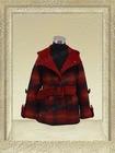 61609-red plaid-latest hot girls elegant fashion coat