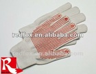 red dot/gum dipping work/working glvoes/safety glove/pvc dot gloves