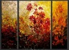 100% handmade flower group oil paintings