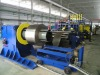 Corrugated steel plate forming and welding line