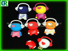 2012 Customised lovely cartoon silcone rubber usb protective cover