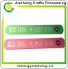 New fashion screen prints slap & snap silicone rubber bracelets AC98689