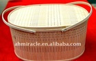 wholesale chinese hot selling printed bamboo basket for home decoration