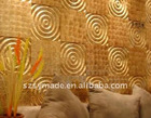 yellow capiz shell wall tile with 3d surface