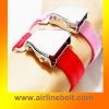 Luxury airplane buckle webbing bracelet
