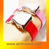 Luxury airplane buckle webbing bracelet