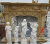 Granite and Marble Fireplace Mantel