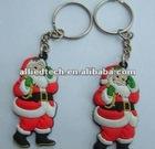 PVC Santa Claus keychain Christmas Gift