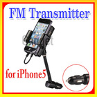 FM Hands-Free Car Kit & iPod FM Transmitter Car Charger Remote Control for iPhone 5, for iPod Touch 5 and for iPod nano 7