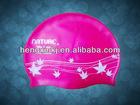 Hot sale printing silicone swim cap, Manufacturer