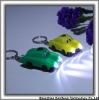 Custom design solar car shape and 2 LED light keychain