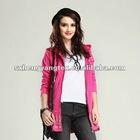 2012 newest red cardigan fleeces garments for women/ladies