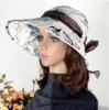 100% cotton custom flora wide brim lady's full cover sun visor hat
