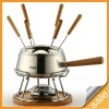 modern stainless steel fondue set