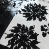 flower design flock pu leather for sofa