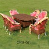 Outdoor Garden Rattan Dining Furniture Set