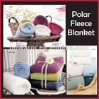 100%polyester solid color polar fleece soft blanket (hemmed edge)