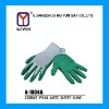 13 gauge nylon latex safety golve,hand protective gloves,green,black,red,etc.