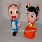 cute doll with plastic material for 2012 new items