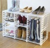 DIY Plastic shoe rack